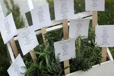 iteresting idea for a botanical theme tableau de mariage