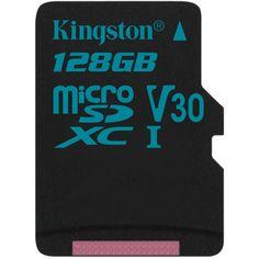 KINGSTON microSD Karte 128GB Klasse 10 UHS-I, inkl. Adapter Computer Memory Card, Film Life, Dashcam, Card Reader, Peace Of Mind, Kingston, Memories, Writing, Reading