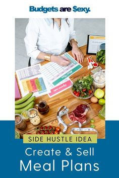 Side Hustle Idea: Create and sell meal plans. Need a side job that will bring in money that you can do at home? Check out theses tips to get started today. Frugal Meals, Budget Meals, Hustle Series, Eat On A Budget, Monthly Meal Planning, Be Your Own Boss, Money Saving Tips, Frugal Living, Making Ideas