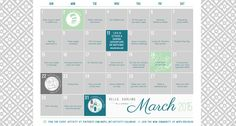 2015 March Activity Calendar