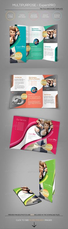 Multipurpose Tri-Fold Brochure - Expert Pro  #GraphicRiver