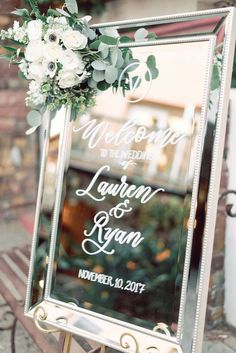 43 Elegant Wedding Welcome Signs You Will Like - Page 16 of 43 - Chic Hostess - Wedding flowers - Chic Wedding, Elegant Wedding, Our Wedding, Classy Wedding Ideas, Classy Wedding Decorations, Dream Wedding, Wedding Ceremony, Wedding Venues, Wedding Entrance