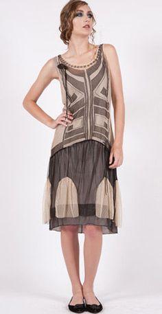 Romantic Nataya Flapper Dress 153 Sizes S, M, L Great Gatsby Inspired