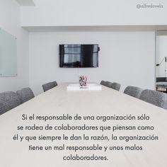 Si el responsable de una organización ... #cita