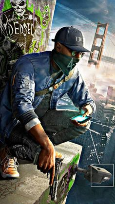 Watch Dogs Marcus Holloway render by DigitalZky on DeviantArt Game Wallpaper Iphone, Hd Phone Wallpapers, 4k Wallpaper For Mobile, Joker Wallpapers, Gaming Wallpapers, Graffiti Wallpaper Iphone, Hacker Wallpaper, Supreme Wallpaper, Dog Wallpaper