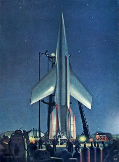 The Conquest of Space! - Chelsey Bonestell, 1953