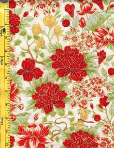 Cream//Gold Asian Japanese Quilt Fabric By the Yard Stunning Floral Fans