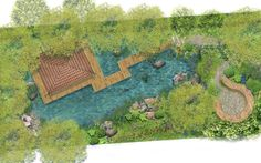 For this year's M&G Garden at the RHS Chelsea Flower Show, Jo Thompson has designed a garden based on the idea of a tranquil retreat. Discover Jo's breathtaking vision with these beautiful illustrations