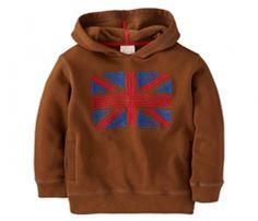 Hooded Brown Boys Jacket