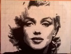 Marilyn Monroe pixel painting. http://www.lebbel.co.uk