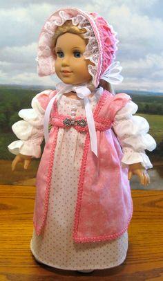 "Pink Polka Dots for Caroline Abbott 1812 American Girl Doll 18in"" | eBay"