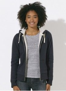 8cd3c6059ce673 Betje - Stretch Limo Sherpa-Lined Ladies' Zip Hoodie Fair Trade Clothing,  Lady