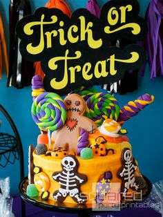 Halloween Candy Party Printables - Candy Land - Printable DIY - Trick or Treat - Print it Yourself - Halloween Candyland Party