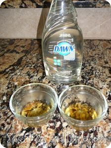 Get rid of the freaking FRUIT FLIES.  apple cider vinegar and dish soap!
