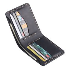 Men's Leather Wallet - Bifold Men's Handmade Leather Wallet - Credit Card Wallet, Gift for Men