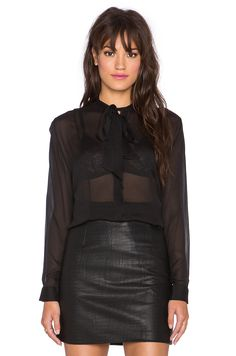 Cleobella Tilda Blouse in Black | REVOLVE
