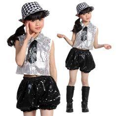 Jazz dance child costume Vestuarios De Baile cb0c3353663