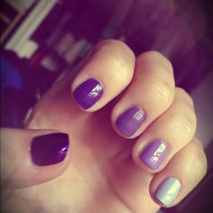 Purple ombre nails - gonna do this next!