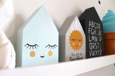 wooden blocks for nursery room. kids room. wooden sign. kawaii