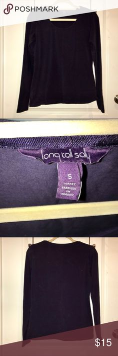 LONG TALL SALLY CREW NECK LS PLUM TOP SIZE S Excellent condition LONG TALL SALLY Tops
