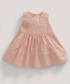 Girls Welcome to the World Pink Pin tuck Dress - NEW Arrivals - Mamas & Papas