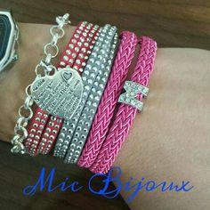 Vari bracciali.. catena e cuore tipo tiffany, doppio giro con strass, corda con iniziale del nome!