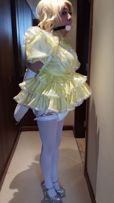 Story adult baby frilly diapered dress