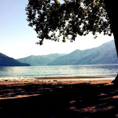 Ascona - Blick vom Lido auf den See.
