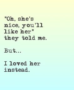 Yeah... That's how it was when I met my ex girlfriend for the first time... Automatically fell in love.