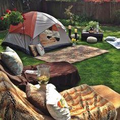 Camping Idea in Low budget - Backyard Idea
