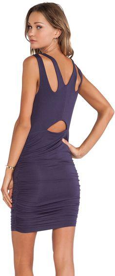 krisa Ruched Cutout Back Dress +woman +fashion