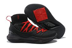 4e89d810e43b5f 2018 Cheap Under Armour Curry 5 High Black Red Basketball Shoes For Sale