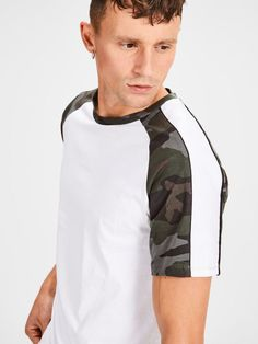 It's a slim fit -tshirt Polo Shirt Style, Mens Printed T Shirts, Fred Perry, Jack Jones, Camo Print, Street Wear, Tee Shirts, Pants, How To Wear