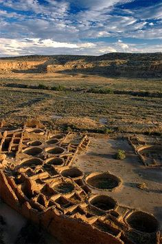 Pueblo Bonito, Chaco Canyon National Historic Monument, NM; photo by Manny Moss  Vacation Rental in Santa Fe, NM  https://www.airbnb.com/rooms/2562597