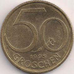 Wertseite: Münze-Europa-Mitteleuropa-Österreich-Schilling-0.50-1959-2001 Austria, Coins, Personalized Items, Childhood Memories, Remember This, Finance, Money, Nostalgia, Rooms