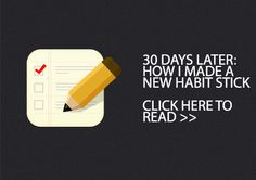 30 days later: How I made a new habit stick