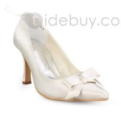 Elegant Stiletto Heel Pumps Wedding Shoes With Bowknot  Elegant ,sexy,cotton,Elegant,snug ,