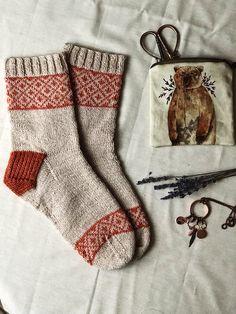 Ravelry: Cozy Natural Socks pattern by Sandra C Diy Knitting Socks, Fair Isle Knitting, Hand Knitting, Knitting Projects, Crochet Projects, Knitting Patterns, Crochet Patterns, Fluffy Socks, Ravelry