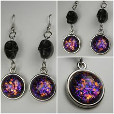 Halloween Nail Polish Jewelry Earrings: Pure Magic. $12.00, via Etsy. love it! must try! www.eCrafty.com for glass tiles, bezels, bails, jewelry supplies