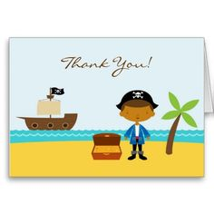 Printable Kids Pirate Thanks Pirate Thank You Cards with Editable Text DIY Pirate Note Cards Editable Printable Pirate Party Notecards