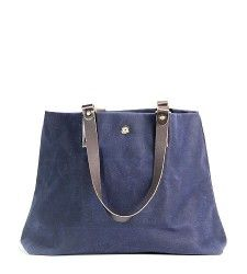 DNTX Tote in Navy - waxed cotton canvas- - Brook Farm General Store