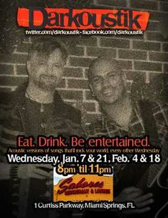 Every other Wednesday, 8pm-11pm. See you at Sabores, Miami Springs!