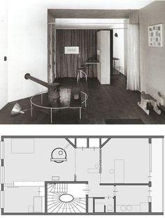 Reforma Apartamento de Aldo Van Eyck, Binnenkant, Amsterdam, 1947_Primer círculo