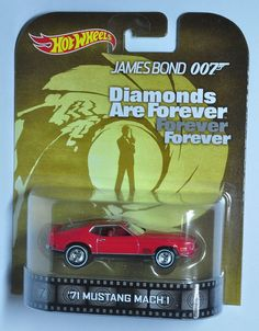 HOT WHEELS 71 MUSTANG MACH 1 2014 RETRO ENT JAMES BOND DIAMONDS ARE FOREVER