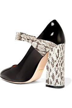 Gucci - Bow-embellished Elaphe And Leather Pumps - Black - IT37.5