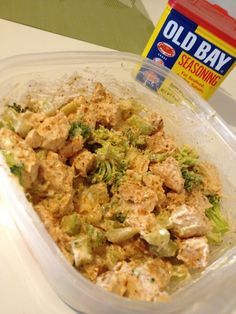 Old Bay chicken salad. Quick, easy and delicious!
