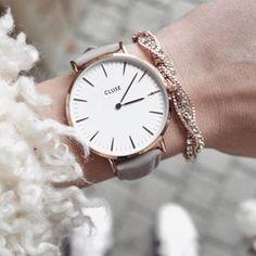 Cluse Watch - La Bohème - Rose Gold White/Grey