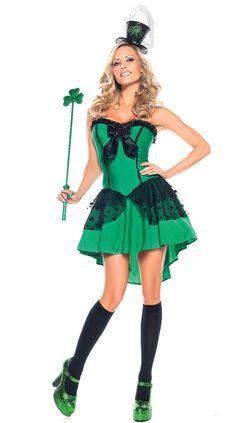 Hot Female Leprechaun | Sexy lucky green female Irish Leprechaun costume