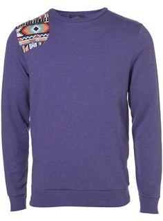 Cool. Purple Aztec Path Sweatshirt. Topman.