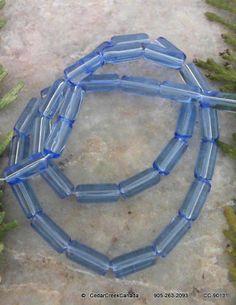 Mauve Transparent Glass Tube Beads                         CC-90131